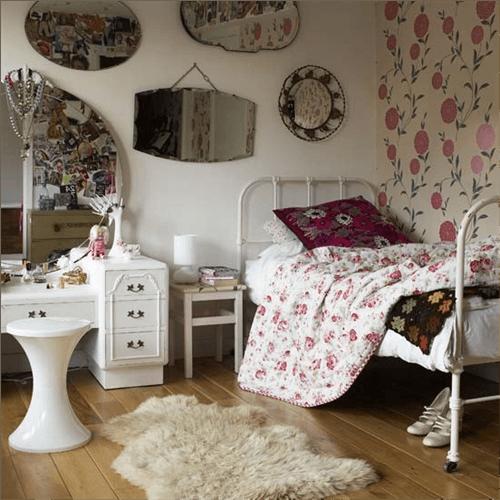 Espejos decorativos para habitaciones vintage 6