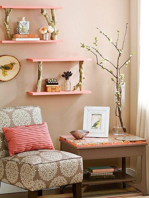 ms ideas para decorar con ramas secas repisas modernas con toque rstico