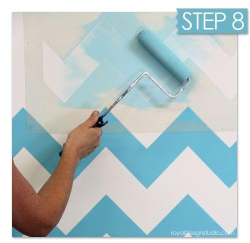 Nuevas Ideas Geométricas Con Plantillas Para Pintar Paredes 10   Decomanitas