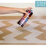 Nuevas ideas geométricas con plantillas para pintar paredes 3