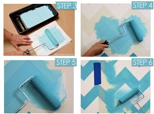 Nuevas ideas geom tricas con plantillas para pintar for Como pintar puertas placas nuevas