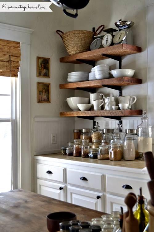 Estanter as de madera baratas para cocinas con encanto - Estanterias para cocina ...