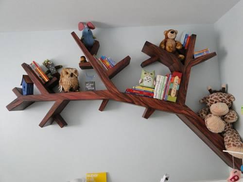 Estanterías originales para libros en forma de árbol 2