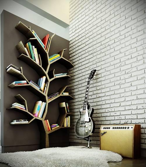 Estanterías originales para libros en forma de árbol 5