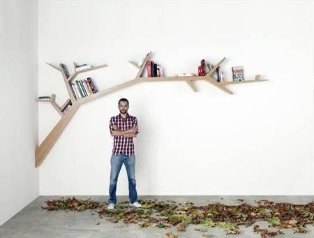 Estanterías originales para libros en forma de árbol 6