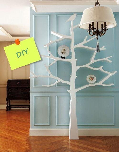 Hacer estanterías de madera en forma de árbol 1