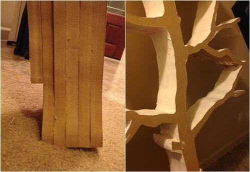 Hacer estanter as de madera en forma de rbol decomanitas - Como hacer estanterias de madera ...