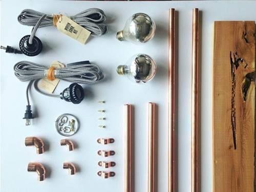 Lámparas de noche recicladas siguiendo la tendencia cobre 4