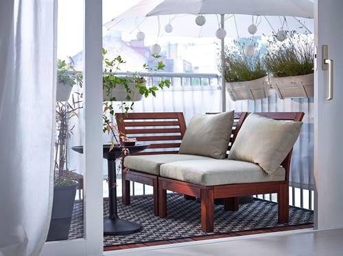 Muebles de terraza para espacios pequeños by Ikea | Decomanitas