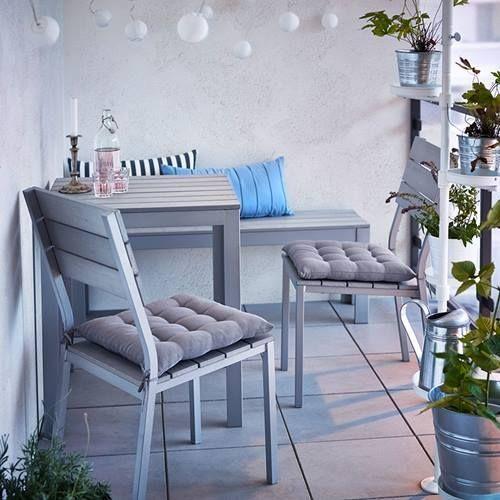 Muebles de terraza para espacios pequeños by Ikea 6