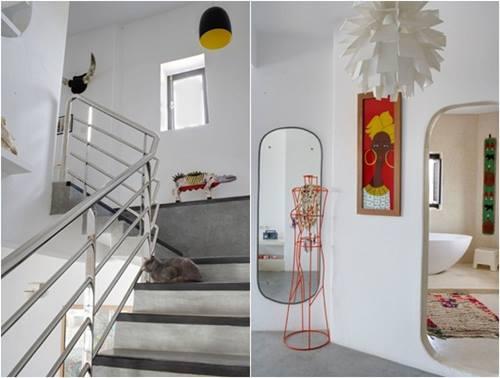 Una casa rústica de estilo marroquí con decoración retro 9
