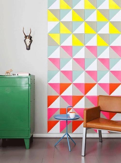 Decoración retro con triángulos Eames multicolor 7