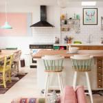 Decoración vintage para una casa que parece de caramelo…