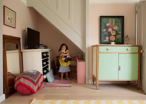 Decoración vintage para una casa que parece de caramelo... 6