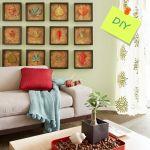 Hacer cuadros decorativos con hojas secas