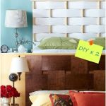 Cabeceros de cama originales para hacer con tiras entrelazadas