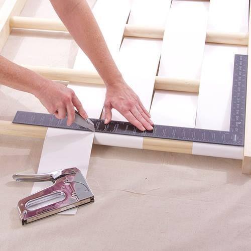 Cabeceros de cama originales para hacer con tiras entrelazadas 4