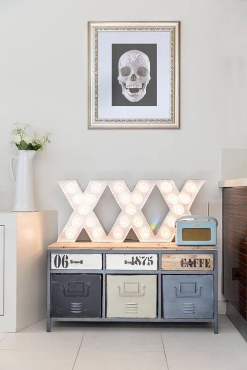 Decoración vintage con rótulos luminosos para la casa  5