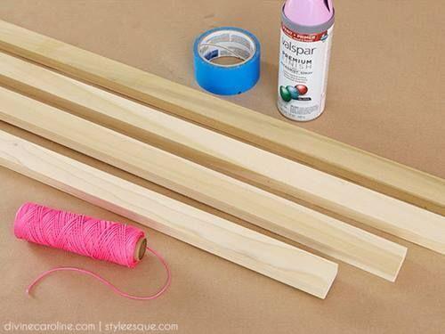 Ideas para decorar percheros de pie DIY 1