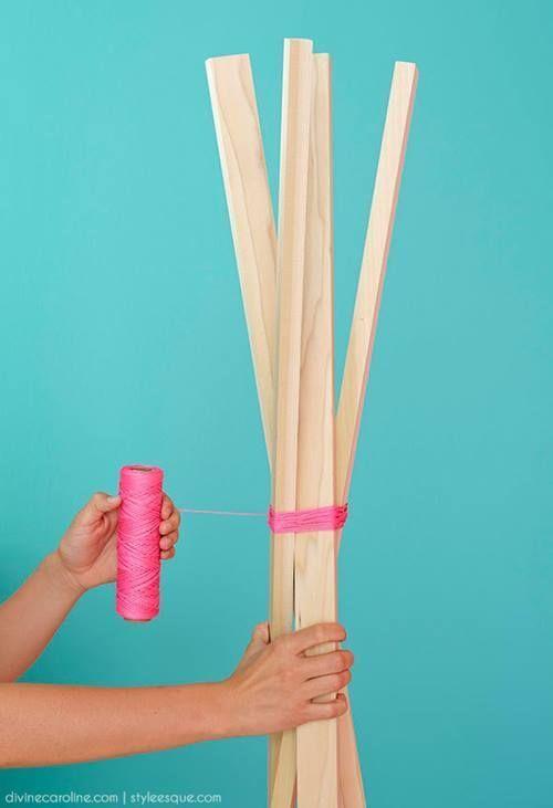Ideas para decorar percheros de pie DIY 4