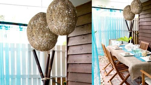 Cómo hacer lámparas de techo con cuerda y globo 1