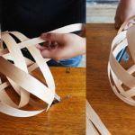Cómo hacer una lámpara moderna con chapa de madera 8