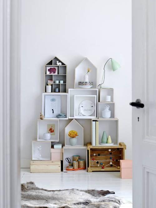 Estanterías decorativas con aire vintage chic 11