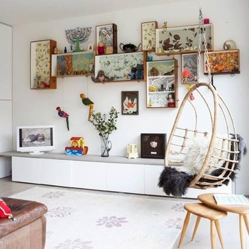 Estanterías decorativas con aire vintage chic 8