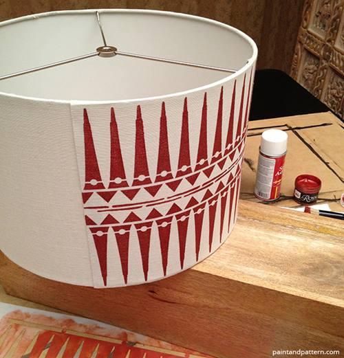 L mparas de mesa originales con plantillas de stencil de Plantillas decorativas ikea