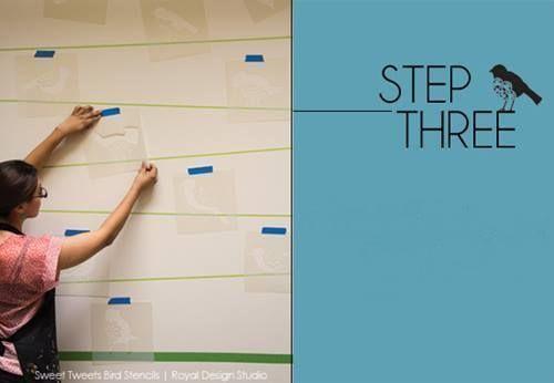 Plantillas para pintar paredes alegres con p jaros - Plantillas para pintar paredes para imprimir ...