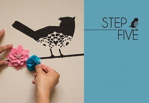 Plantillas para pintar paredes alegres con pájaros 5