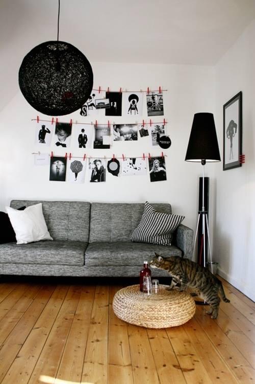 Decorar con fotos sujetas por pinzas (easy & trendy) 1
