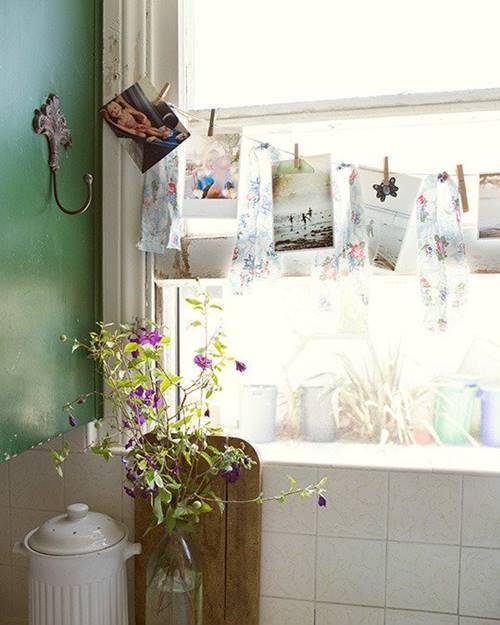 Decorar con fotos sujetas por pinzas easy trendy - Ikea pinzas cocina ...