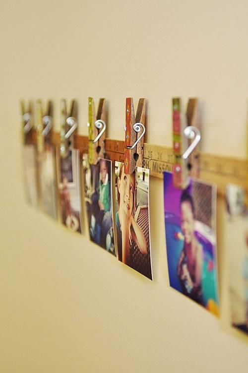 Decorar con fotos sujetas por pinzas (easy & trendy) 8