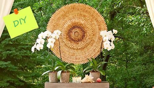 Ideas de decoración oriental flor de madera DIY para chill out 1