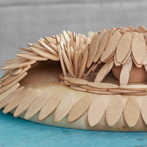 Ideas de decoración oriental flor de madera DIY para chill out 17