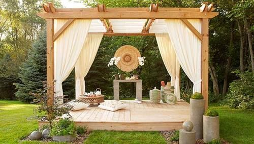 Ideas de decoración oriental flor de madera DIY para chill out 2
