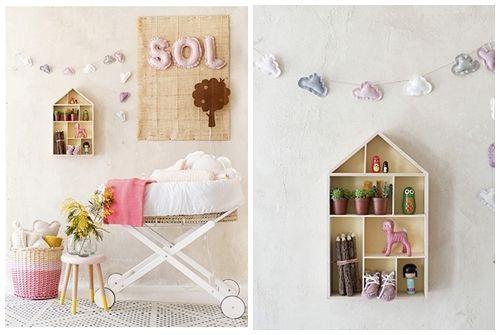 Ideas para decorar con una estantería casita de madera 14