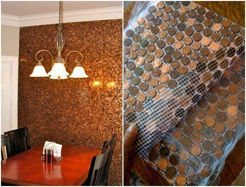 Ideas para decorar reciclando monedas de cntimo  Decomanitas