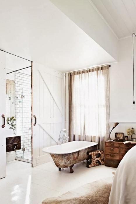 Baños vintage con antiguas bañeras exentas 4