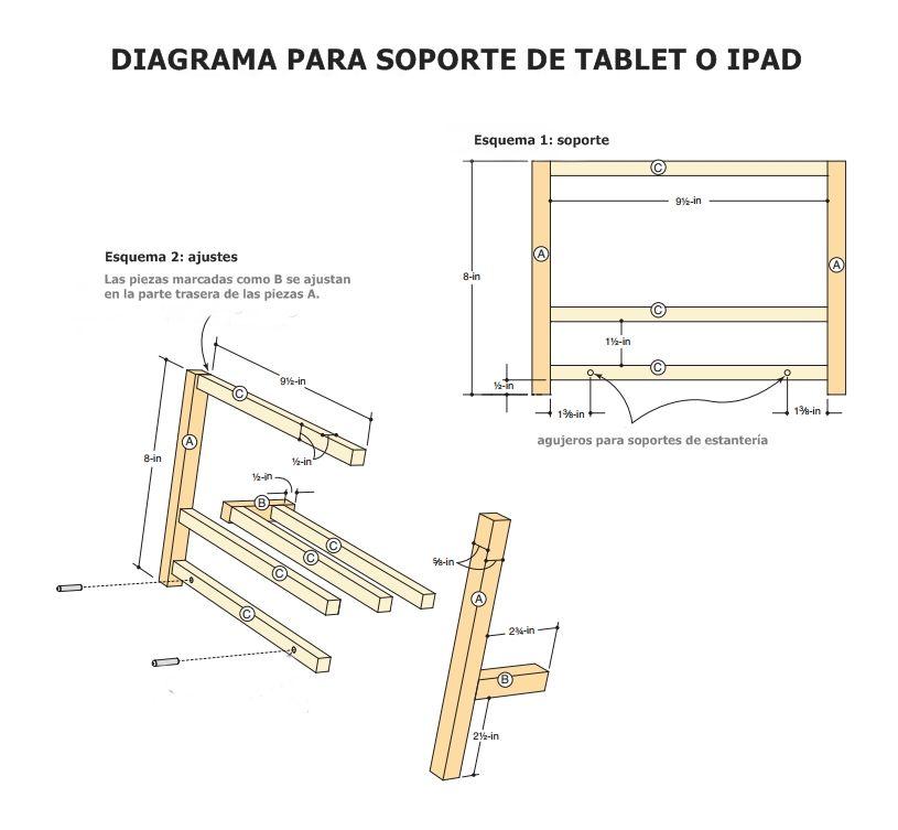 DIY cómo hacer soporte para tablet o ipad 7
