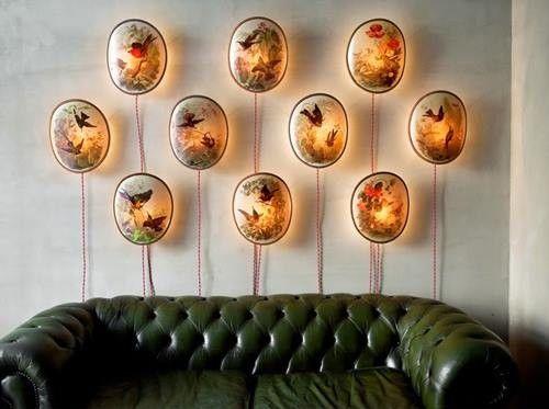 Decorar paredes con colecciones de todo lo que puedas imaginar... 9