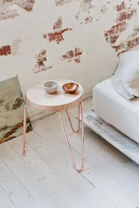 Lámparas de color cobre y otras piezas para decoracion vintage 9
