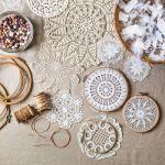 Atrapasueños DIY decorar reciclando tapetes de ganchillo 2