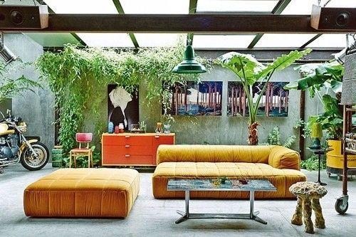 Casas con encanto loft con estilo industrial y muebles reciclados 3