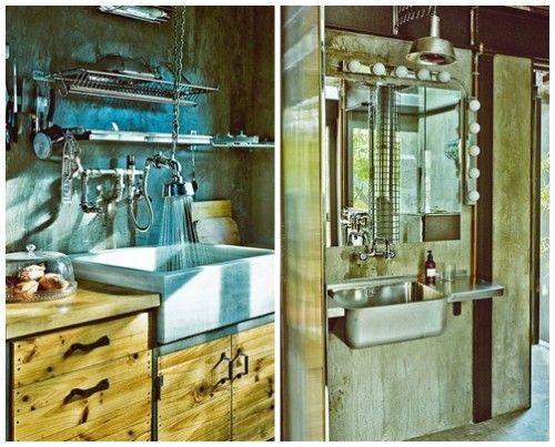 Casas con encanto loft con estilo industrial y muebles reciclados 6