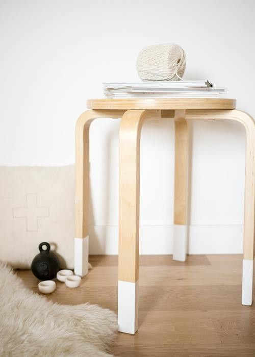 Transformar muebles Ikea ideas para tunear el taburete Frosta 16