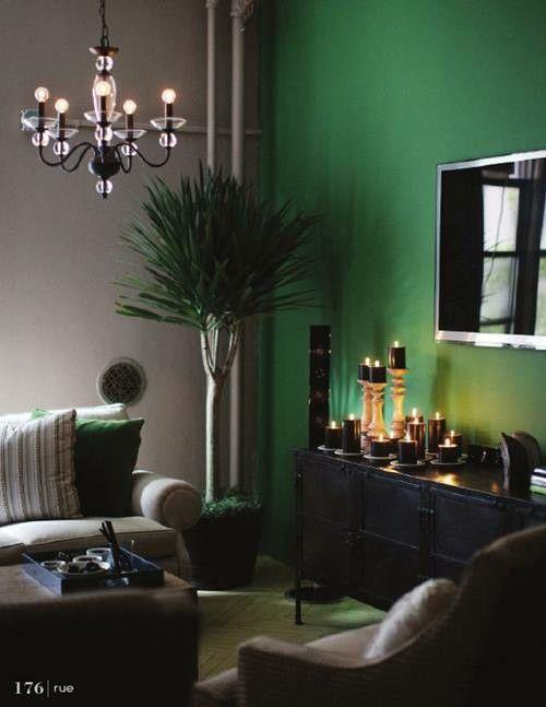 Colores para pintar paredes verde esmeralda  Decomanitas