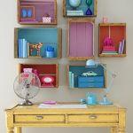 15 ideas para decorar cajas de madera y tunearlas en estanterías 1