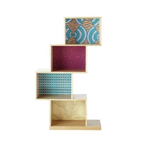 15 ideas para decorar cajas de madera y tunearlas en estanterías 8